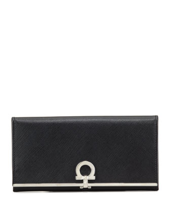 Gancini Icona Continental Wallet, Black