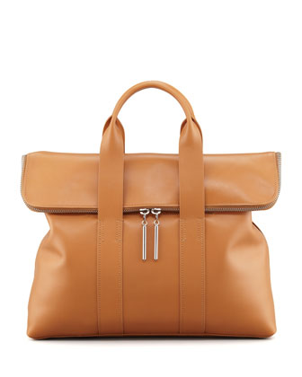 31-Hour Fold-Over Tote Bag, Camel