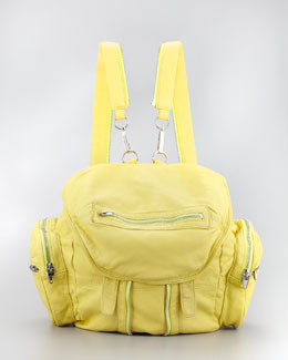 Alexander Wang Marti Zippered Backpack, Citrus