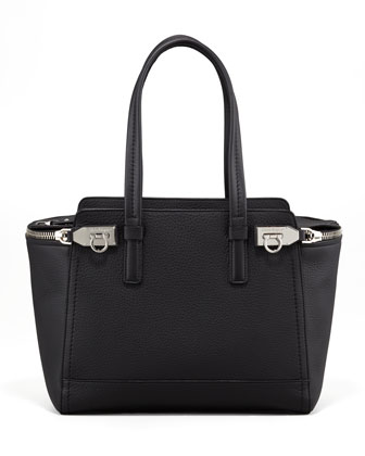 Arianna Zip Tote Bag, Black