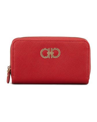 Icona Gancini Wallet, Red