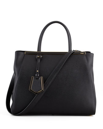 2Jours Vitello Elitel Shopping Bag, Black
