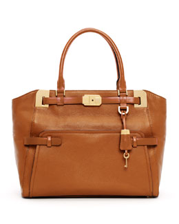 Michael Kors  Blake Large Pebbled Leather Satchel Bag
