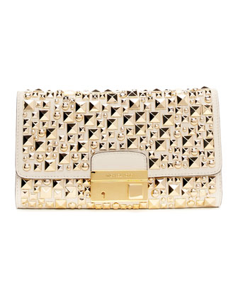 Gia Studded Clutch Bag