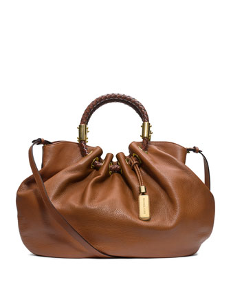 Skorpios Textured Leather Ring Tote Bag