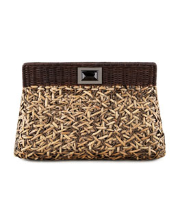 Kara Ross Amo Woven Clutch Bag, Large
