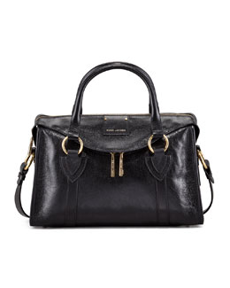 Marc Jacobs Fulton Small Top-Handle Bag, Black