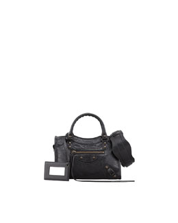 Balenciaga Classic Mini City Bag, Black