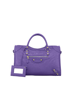 Balenciaga Giant 12 Golden City Bag, Mauve