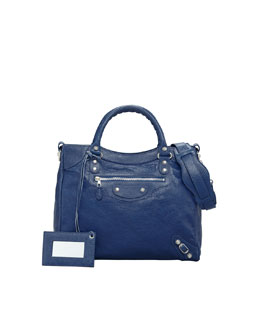 Balenciaga Giant 12 Nickel Velo Bag, Bleu Mineral