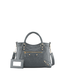 Balenciaga Giant 12 Golden Town Bag, Gris Tarmac