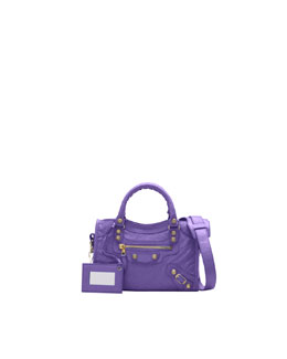 Balenciaga Mini Giant 12 Golden City Bag, Mauve