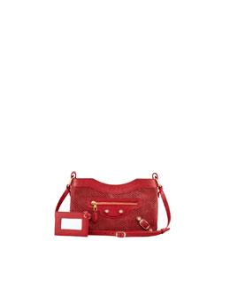 Balenciaga Giant 12 Golden Canvas Hip Crossbody Bag, Rouge