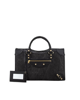 Balenciaga Giant 12 Golden City Canvas Bag, Black