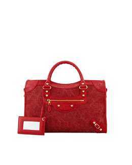 Balenciaga Giant 12 Golden City Canvas Bag, Rouge/Coquelicot