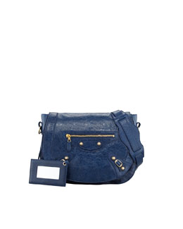 Balenciaga Giant 12 Golden Neo Folk Bag, Bleu Mineral