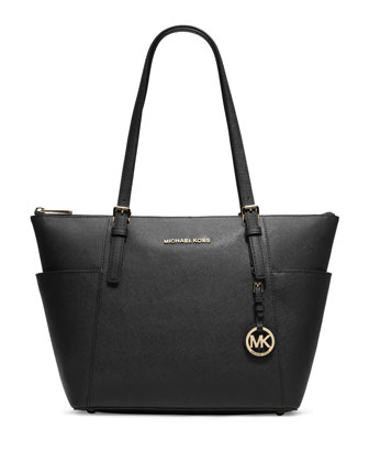 Jet Set Top-Zip Saffiano Tote