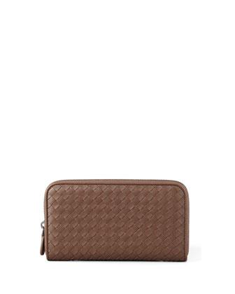 Continental Zip-Around Wallet, Brown