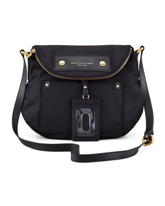 Preppy Nylon Natasha Bag, Black