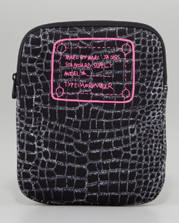 MARC by Marc Jacobs Trompe l'Oeil Croc-Print Tablet Sleeve, Black
