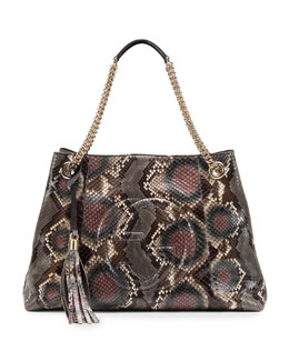 Gucci Soho Python Medium Chain-Strap Bag