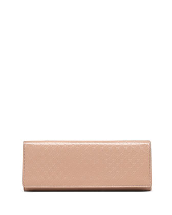 Microguccissima Leather Evening Bag, Nude
