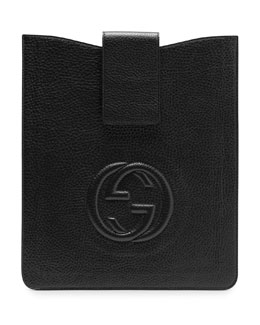 Gucci Soho Leather iPad Case, Black