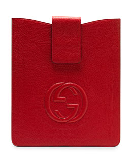 Gucci Soho Leather iPad Case, Red