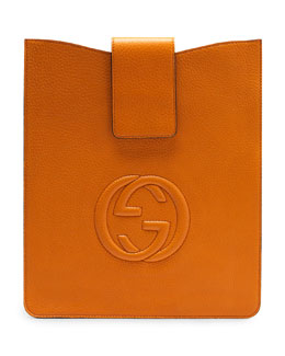 Gucci Soho Leather iPad Case, Sunflower