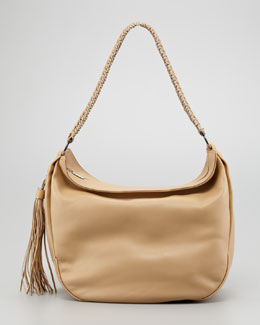 Salvatore Ferragamo Mel Braided-Strap Hobo Bag, Desert