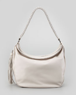 Salvatore Ferragamo Mel Braided-Strap Hobo Bag, Ash