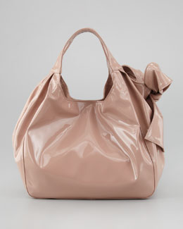 Valentino Medium Nuage Bow Tote, Noisette