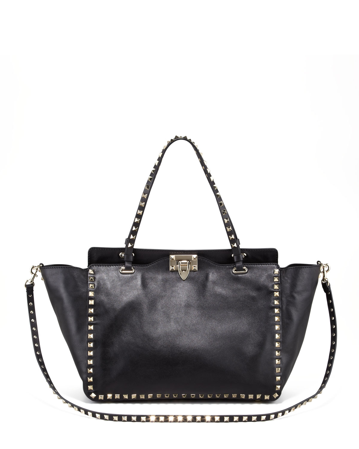 Rockstud Medium Tote, Nero, Black - Valentino