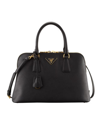 Medium Saffiano Promenade Bag, Black (Nero)