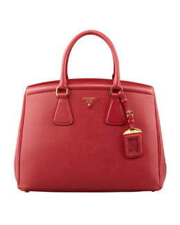 Prada Saffiano Parabole Bag, Red