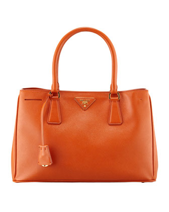 Saffiano Gardener's Tote Bag, Orange (Papaya)