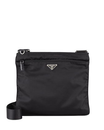 Vela Large Crossbody Messenger Bag, Black (Nero)