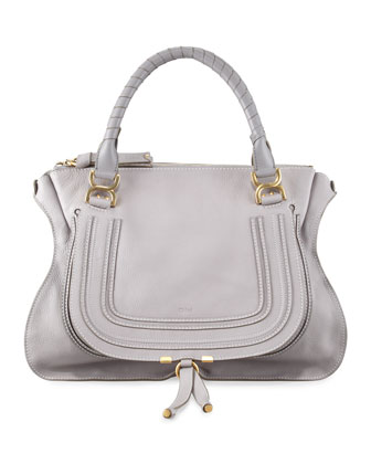 Marcie Large Shoulder Bag, Cashmere Gray