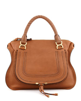 Chloe Marcie Large Satchel, Tan