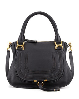 Chloe Marcie Medium Shoulder Bag, Black