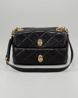 Dolce & Gabbana Miss Agnes Quilted Shoulder Bag, Black