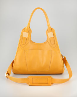 Rachel Zoe Lucas Small Leather Hobo Bag, Maize