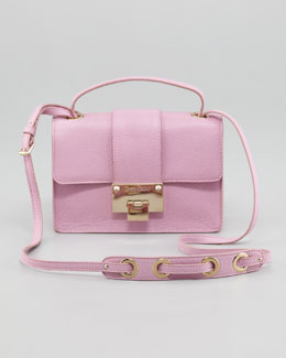 Jimmy Choo Rebel Leather Crossbody Bag, Peony