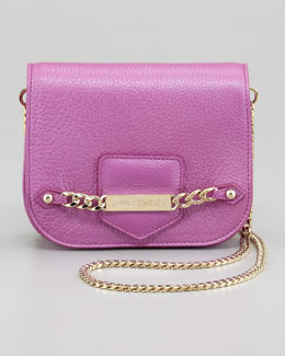 Jimmy Choo Shadow Metallic Crossbody Bag, Orchid