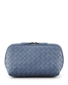Bottega Veneta Veneta Medium Cosmetic Bag, Blue