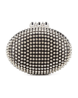 Christian Louboutin Spiked Clutch Bag