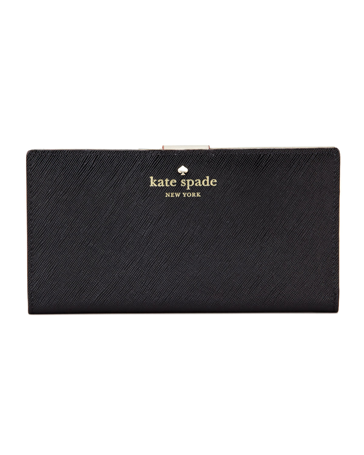 mikas pond stacy continental wallet, black   kate spade new york