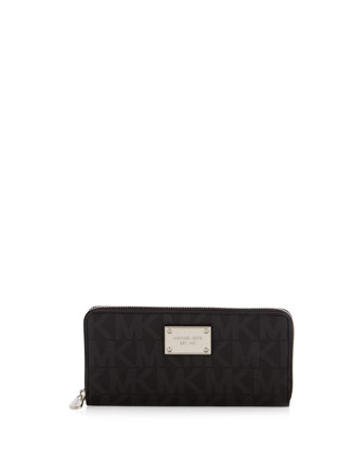 Jet Set Pebbled Continental Wallet