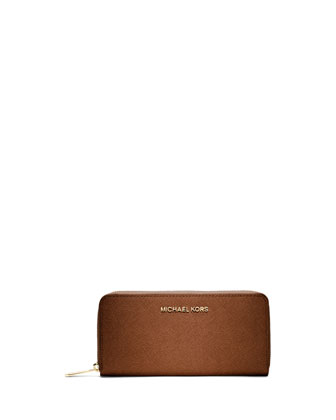 Jet Set Continental Saffiano Wallet