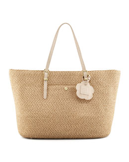 Eric Javits Jav III Squishee Tote Bag, Natural
